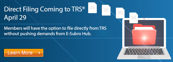 Direct Filing Coming to TRS